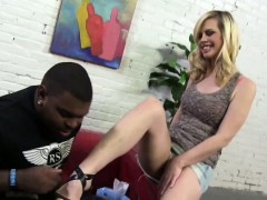 Hot seductive footjob