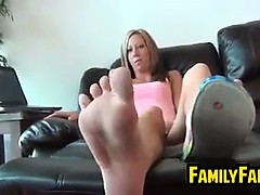Sister In Law Teasing Her Feet