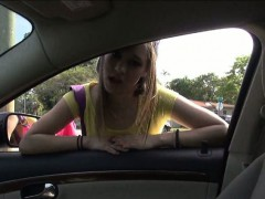Hitch hiker teen girl...